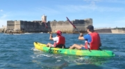 Paddling to St Julian´s Fortress