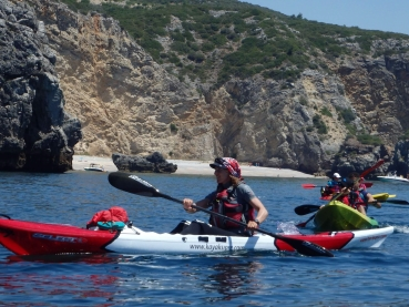 Kayaking along Arrábida Nature Park Coast