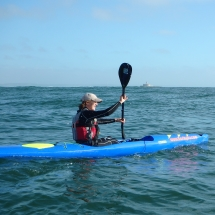 Learn surfski and enjoy surfing the swell