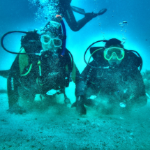 Get certified, take a diving or paddling course!