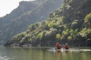 We will paddle between the dams sculptured into the cliffs. We probably won´t see a human soul beside our group while paddling. You will feel the imensity of Nature and appreciate the beauty of the Natural Park.
