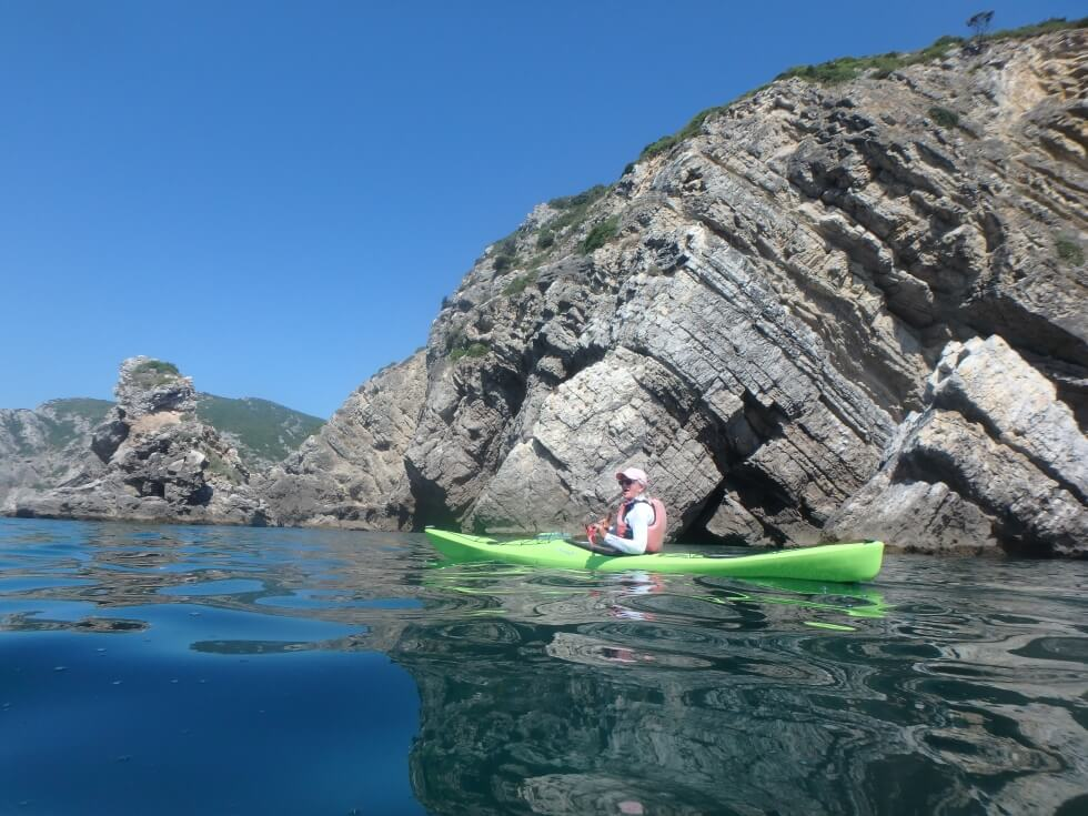A unique kayaking trip around Lisbon on the Atlantic Ocean and the Tagus River, from the former royal holiday resort Cascais to the Natural Park of Arrabida