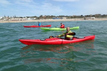 aulas de kayak de mar